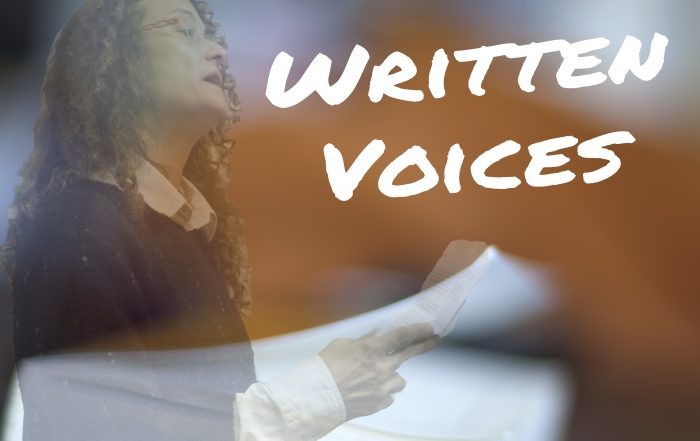 Written Voices poster